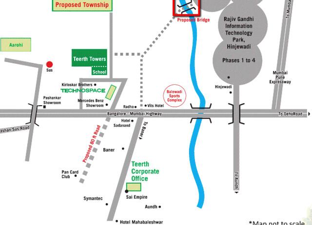 Proposed Bridge between Teerth Towers and Rajiv Gandhi Infotech Park at Hinjewadi Pune