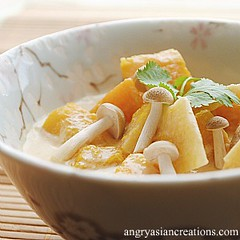 Butternut Squash Braised in Coconut Milk