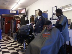 BARBERSHOP (THEHEADSHAVER) Tags: boy haircut men hair long head cut hawk afro bald barber shave cape buzzcut buzzed bait clippers clipper nape