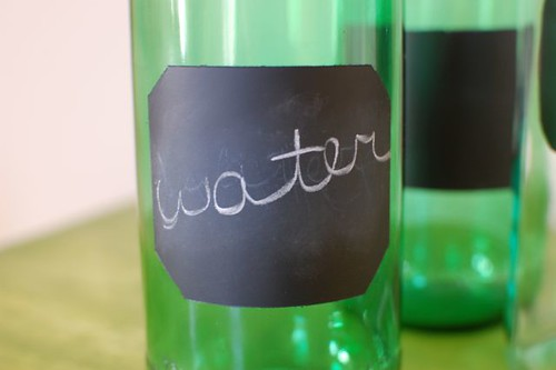 water glass bottle