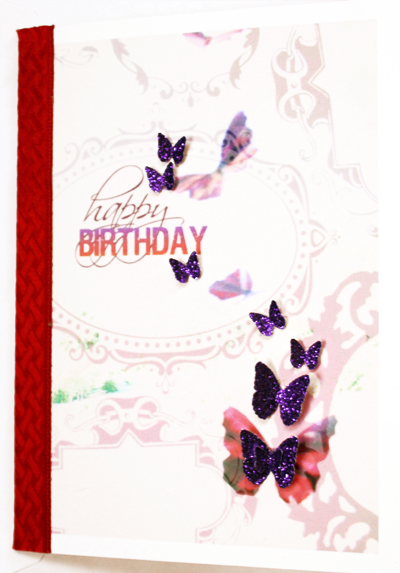*happy birthday* card