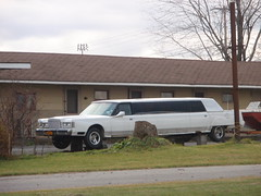 stretch limo on blocks