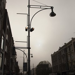 sun (Cosimo Matteini) Tags: sky sun building london fog pen olympus lamppost nottinghill muted ladbrokegrove m43 mft epl1 cosimomatteini