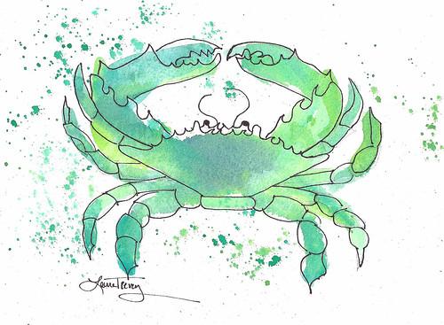 Seafoam Green Crab
