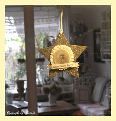 Through the window (Boxwoodcottage) Tags: november home window glitter silver star interior decoration styling 2010 boxwoodcottage