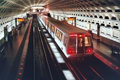 metro. (billy.b) Tags: film john dc washington nikon metro kodak fear rally f100 stephen stewart restore sanity colbert andor