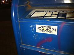 (theres no way home) Tags: illinois sticker postbox evanston hooligans postalbox doowops brunomars doowopshooligans