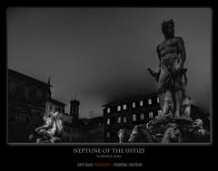 Neptune of the Uffizi (BSG Images) Tags: italy monochrome florence uffizimuseum neptunefountainbyuffizi