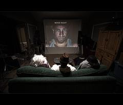 174/365 Y2 - MOVIE NIGHT (Arieseffects) Tags: coolhat bigface mirrorreflection watchingamovie merryxmasxoxo