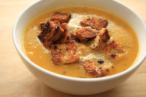 Soup with croutons take 1