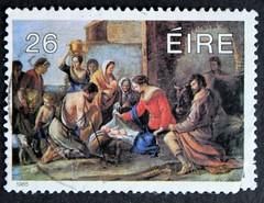 Irish Stamp (breenj) Tags: christmas stamps eire stamp nollaig itish