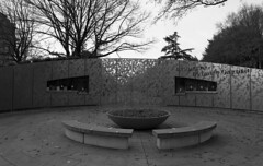 Brooklyn Botanic Garden Entrance (triebensee) Tags: brooklyn garden nikon kodak tmax 400 botanic f2 kodaktmax400 photomic brooklynian