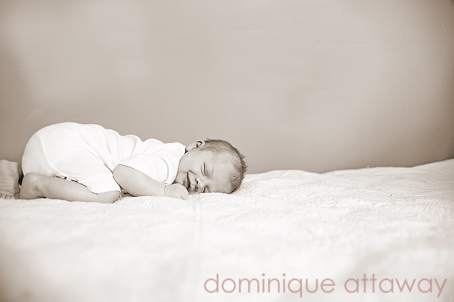 baby sleeping smiling
