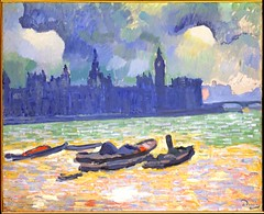 Derain, Andre (1880-1954) - 1906-07 The Palace of Westminster (Metropolitan Museum of Art, New York City) (RasMarley) Tags: seascape water buildings french boats painter 1906 20thcentury metropolitanmuseumofart 1900s fauvism thepalaceofwestminster derain andrederain