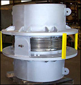 "44"" Hinged Expansion Joint with Refractory-lining  and Two-ply Bellows"