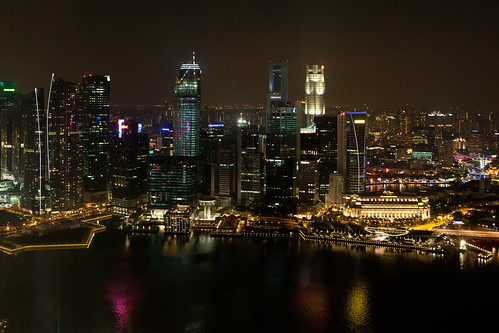 Singapore Skyline by Night