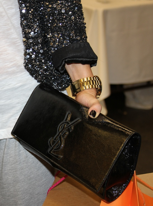 ysl large patent leather clutch