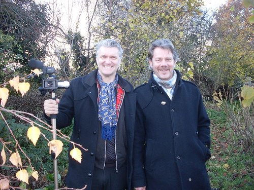 Charlie and Dunstan - allotment gothic!