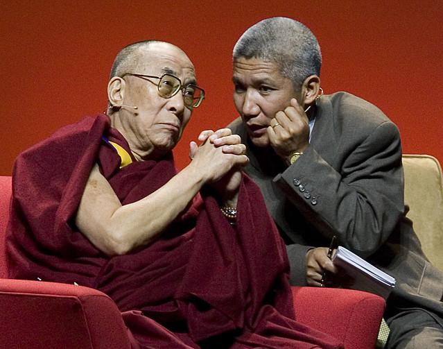 The Dalail Lama Listens to Thupten Jinpa