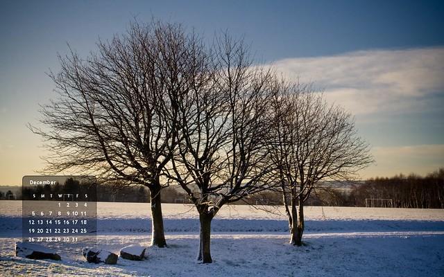 December 2010's calendar :: 1280x800 (left)