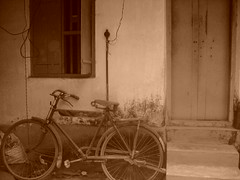 """""""end of my journey"""" -By CYCLE (aathoooz) Tags: old home sepia sony nostalgia cycle memory past sonycybershot oldhome"""