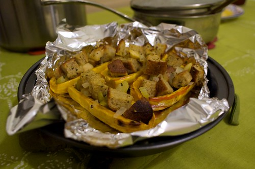 stuffed delicata halves