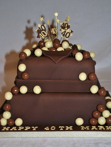 2 Tier Malteser Chocolate Birthday Cake