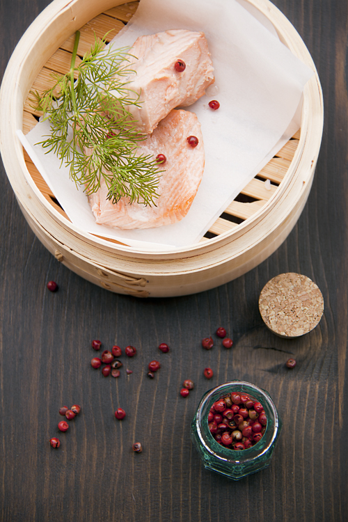 Ravioli natalizi con Salmone e Bacche Rosa