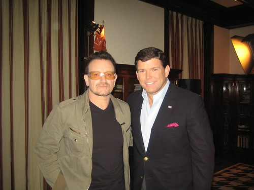 Bono and Bret Baier