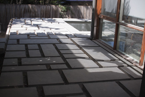 Patchwork paving...