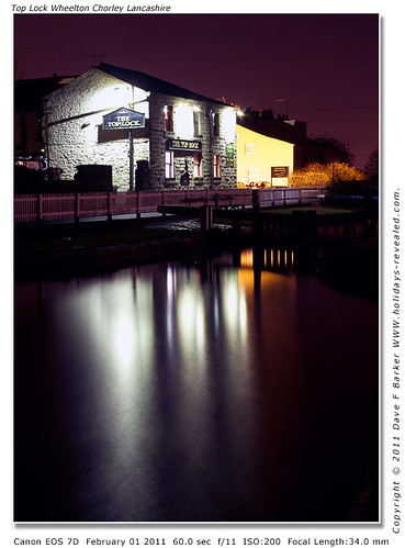 Top Lock Pub Night Reflections Wheelton Chorley Lancashire