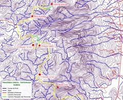 Mapa da Subida na Travessia Crista - Tartaruga