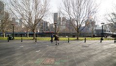 Melbourne Solitude (Keith Midson) Tags: southbank melbourne city people walking pedestrians walk quiet winter australia samyang 14mm