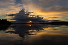 lake sunset scenery_ (VisitLakeland) Tags: finland lakeland scenery lake night midnight nightless keskiyö keskikesä yötön yö heijastus reflection ranta dream horisontti profiili