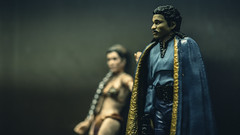 Galactic Pimpin' Ain't Easy (3rd-Rate Photography) Tags: landocalrissian leiaorgana starwars pimpinainteasy billydeewilliams toy toyphotography blackseries actionfigure figure canon 100mm macro jacksonville florida 3rdratephotography earlware disney