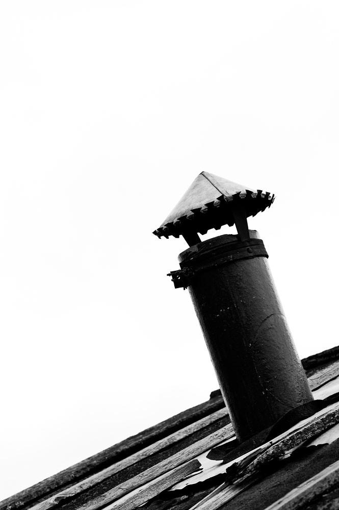 old chimney in Belozersk, Russia