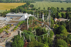 overview rollercoaster Rasender Roland and Loopingcoaster Nessie (MR-Fotografie) Tags: park nikon roland rollercoaster hansa nessie achterbahn hansapark d90 rasender
