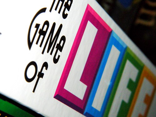 its the game of life. it's tricky and has bumps in the road; but somehow its a game we all love playin.