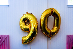 (Emily Raw) Tags: birthday party balloons festive gold emily raw aging 90 mylar mortality