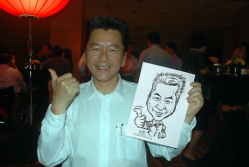 Caricature live sketching for Travel Partners Appreciation Dinner - World Fiesta - 7