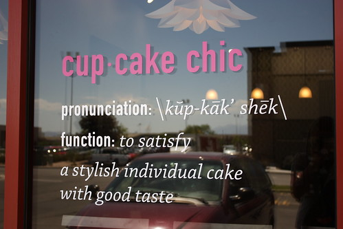 Cupcake Chic - Definition on Storefront window