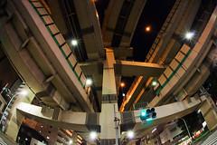 Medusa (tk21hx) Tags: japan tokyo highway sigma junction fisheye expressway shutoko hakozaki jct tokyometropolitanexpressway metropolitanexpressway sigma15mmf28exdgdiagonalfisheye shutoexpressway canoneos5dmarkii shutokosoku hakozakijunction