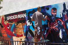 Comic Con 2010: Shattered Dimensions Mural (earthdog) Tags: 2010 comiccon comicbookconvention sandiego sandiegocomiccon sdcci comiccon2010 unknownperson art painting mural publicart unknownartist unknowntitle spiderman advert videogame word needscamera needslens