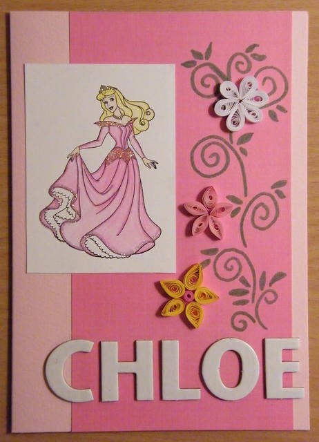 Princess quilling card