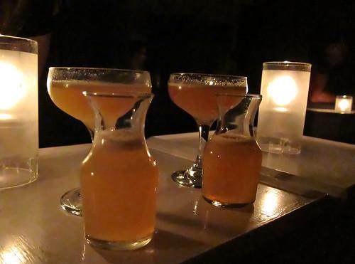 Logan's and my indistinguishable drinks