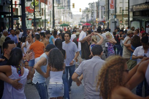 Salsa Dancing on Granville Street