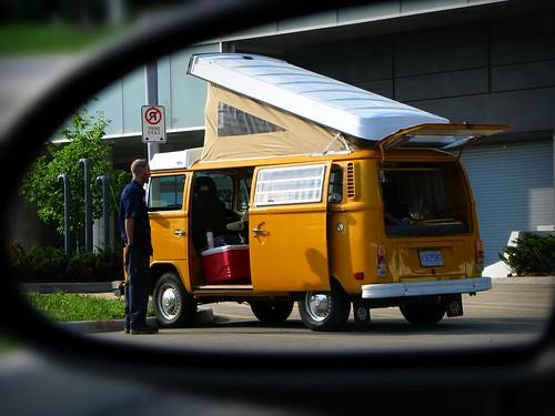2 toronto ontario canada bus mobile vw volkswagen wagon mirror objects mini than micro type hippie they van split volks screens transporter volkswagon minibus closer microbus appear wagen hippi splitties