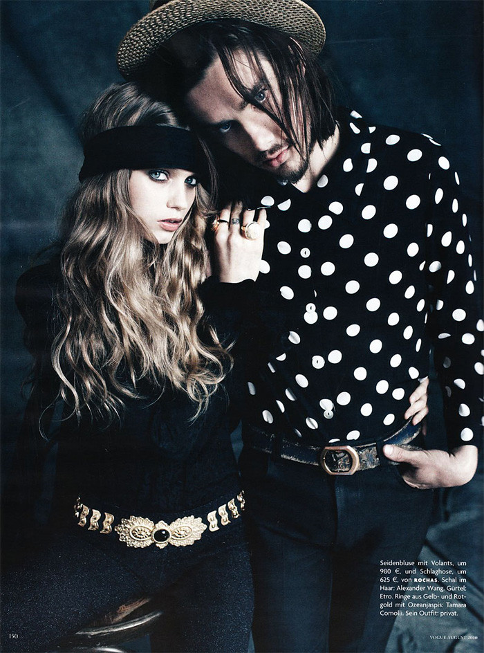 Vogue Germany August 2010  Music issue  Abbey Lee with her musician boyfriend Matthew Hutchinson photographed by Alexi Lubomirski. (Pictures via tfs)