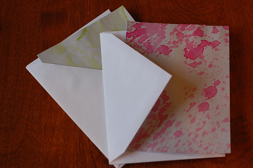 splatter paint notecards