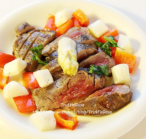 煎牛排佐烤蔬菜-France-100520